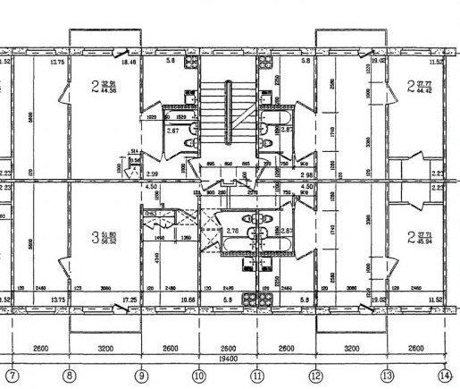 Схема 2 комнатной хрущевки фото 564