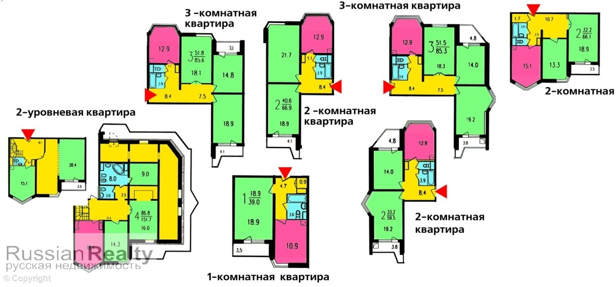 Серия дома п-44тм russianrealty.